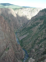 A view into the Black Canyon